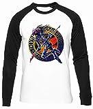 Oscuro Mago de Caos Algodon Organico Unisex Camiseta Beisbol Hombre Mujer Manga Larga Tamaño L Unisex Baseball T-Shirt Long Sleeves Size L