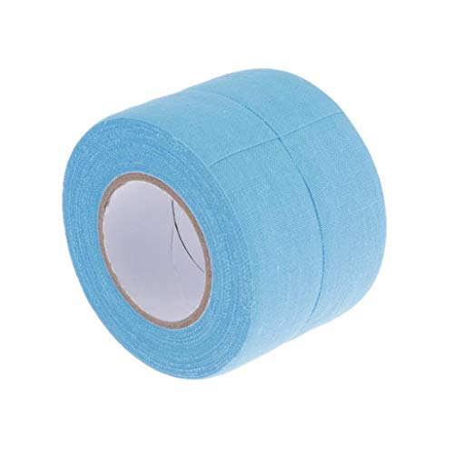 CUTICATE 2 Rolls Hockey Grip Tape - Ice Hockey Stick Protector Wrap, Also Great for Baseball Bat, Field Hockey, Badminton, Tennis Racket and More - 6 Colors - Light Blue