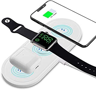 Wireless Charger Stand, 3 in 1 Wireless Charging Station for Airpods/Apple Watch,Charging Dock Wireless Charging Stand Com...