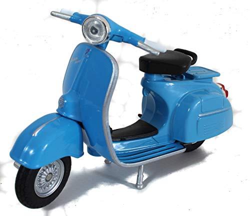 Vespa - Modelo de moto Vespa (1:18, aprox. 10 cm), color azul