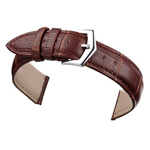 20mm Pulseras para Relojes Bandas de Color marrón para los Hombres o...