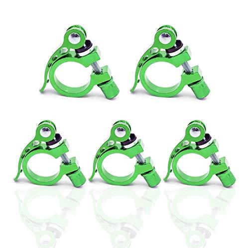 Fahrradsitz-Rohrklemme, ultraleicht, Schnellspanner, Aluminiumlegierung, Grün, 5 Stück, 34,9 mm