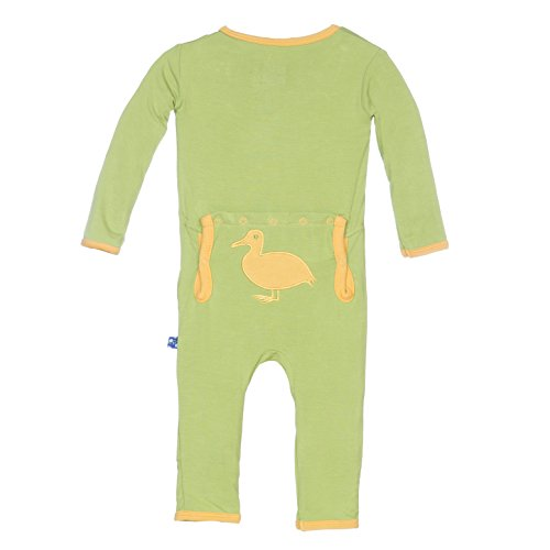 KicKee Pants Baby Fitted Applique Coverall, Meadow Duck, 3T