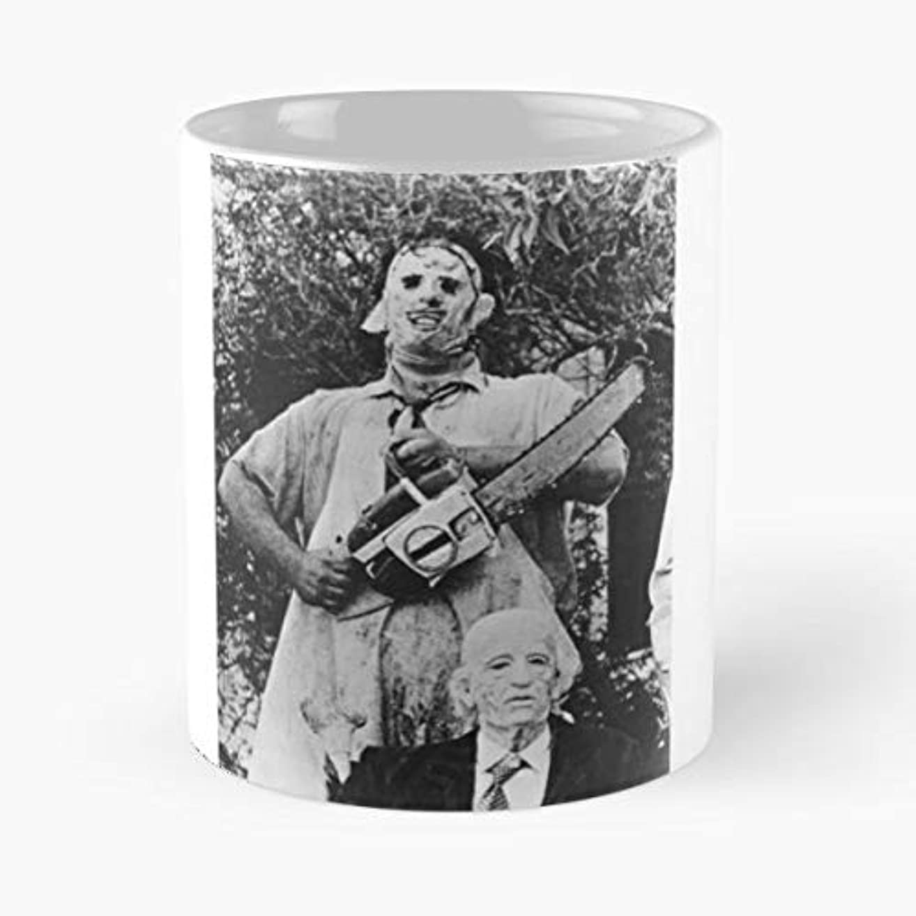 Texas Chainsaw Massacre 2-11 Oz Coffee Mugs Unique Ceramic Novelty Cup, The Best Gift For Holidays.