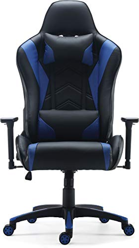 Staples Vartan Gaming Chair Blue It's not super comfy but you guys. gameswho