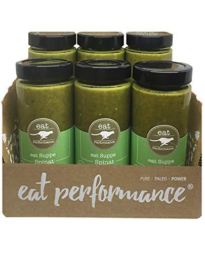 eat Performance® Spinat Suppe (6x 350ml) - Bio, Vegan, Paleo, Frisch Gekocht Aus 100% Natürlichen Zutaten