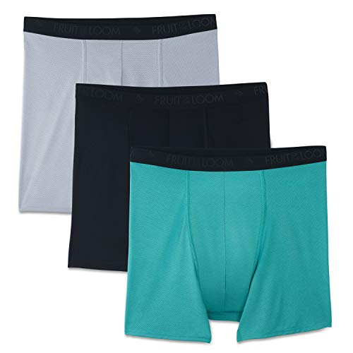 Fruit of the Loom Herren Breathable Underwear Slip, Big Man Boxershorts, Micro Mesh, 3er-Pack, 4X Groß
