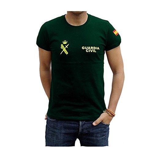 Piel Cabrera Camiseta Guardia Civil (XL, Verde)