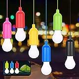 Lamping LED Leuchte,KIPIDA Pull Light Lampe,Tragbare LED Campinglampe mit Zugschalter,Lampen Camping Laterne,Dekoratives Licht für Wandern,6 Stück Pull Light,Glühbirnen für Party,Angeln,Garten,Zelt