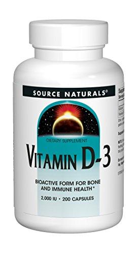 Source Naturals Vitamin D-3 2000 iu Supports Bone & Immune Health - 200 Capsules