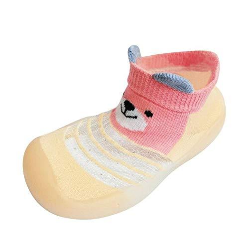 Zapatos de bebé unisex Calcetines de suela de goma Niño pequeño Niños pequeños Niñas Niños Antideslizante Dibujos animados Lindos zapatos transpirables de punto para 1-3.5 años