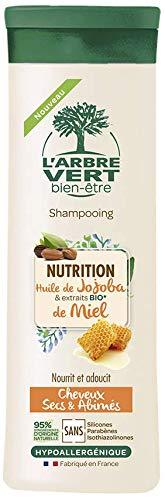L'arbre vert Shampooing Nutrition pour Cheveux Secs/Abîmés 250 ml