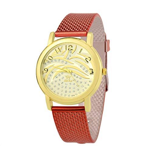 Transer Trend Personalità Leggero Comfort Guarda Cinturino in Silicone al Quarzo Fashion Casual Watch, per SHIKAI ZYBSK-39 (Red)