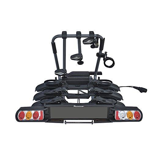 Peruzzo 708/3 Pure Instinct 3 Fahrradträger Anhängerkupplung 3 Fahrrad, schwarz, 100 x 80 x 70 cm