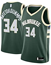 OYFFL Giannis Basketbal Jersey Antetokounmpo Custom Milwaukee Sweatshirt Bucks Top Mouwloos #34 Swingman Jersey Groen - Icon Edition