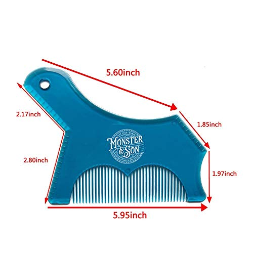 Monster&Son Beard Shaping Tool – Classic Oversized Design (Clear)