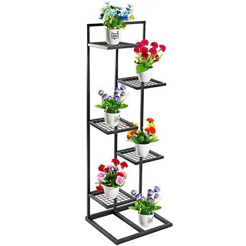 Metallpflanzenständer-Blumentopfregal Innen-Außenbereich Schwarz