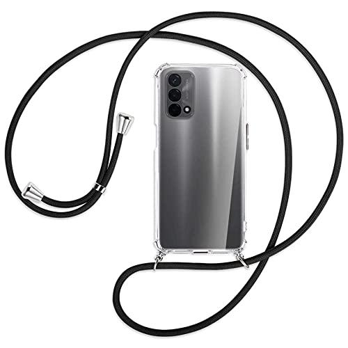 mtb more energy Collana Smartphone per Oppo A93 5G (6.5'') - Nero - Custodia indossabile per Collo - Cover a Tracolla con cordina