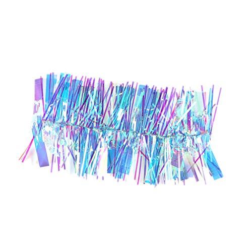 #N/A DIY虹色ネイルアートヒントステッカーデカールフレンチヒントデコレーションチャーム - 青い