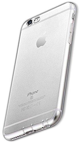 COVERbasics Cover Compatibile con iPhone 6 Plus / 6s Plus (PROCAM) Custodia Trasparente in Silicone Sottile con Protezione Fotocamera e Tappi Antipolvere