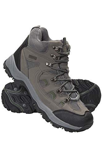 Mountain Warehouse Botas Adventurer para Hombre - Zapatillas Altas de Tejido y Material sintético para Caminar, Zapatillas de Verano con Agarre Adicional para Hombre Caqui 43