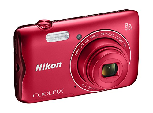 Nikon Coolpix A300 Digitalkamera, kompakt, 20.1 MP, 8 x Weitwinkel, VR, HD-Filme, Bluetooth, WLAN,