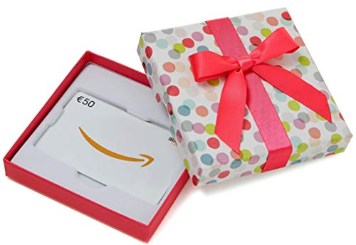 Amazon.de Geschenkkarte in Geschenkbox - 50 EUR (Bunte Punkte)
