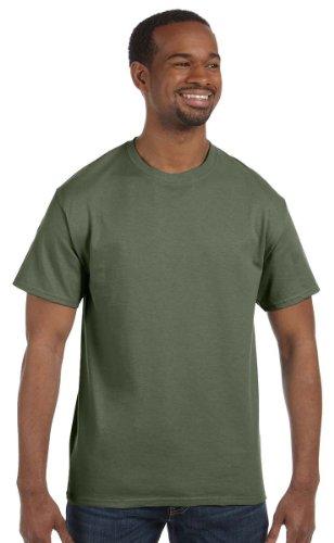 Gildan Heavy Cotton T Shirt Color Military Green Size S