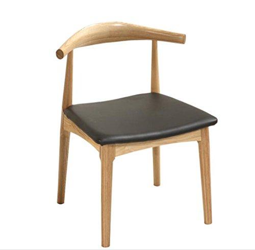 Tabouret en bois Nordic bois massif cornes chaises, chaises en bois massif/thé restaurant café restaurant salon de thé restaurant principal tables et chaises (Couleur : A)