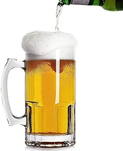 35 OZ Beer Mugs Heavy Large Beer Glasses with Handle Classic Beer Mug glasses Style Extra Large product image