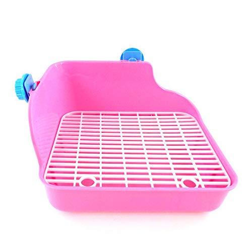 Hoomall Hamster Kleintier Toilette Durable Pet Cavy Kaninchen Pee Corner Wurf Tablett Pink Blau Grün