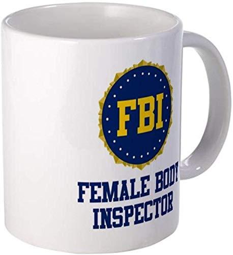 Rael Esthe 11 Unzen Becher - FBI Female Body Inspector Mug - S weiß von Coffee Mug