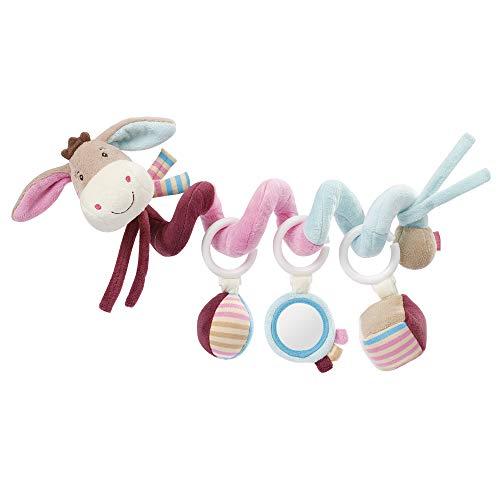 Fehn 081336 Activity-Spirale Esel – Stoff-Spirale zum Greifen und Fühlen – Für Babys und Kleinkinder ab 0+ Monaten – Maße: 30 cm