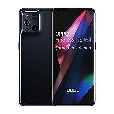 OPPO Find X3 Pro 5G Smartphone, 6,7 Zoll AMOLED Display mit 1 Milliarde Farben, 50MP Duo Hauptkamera, 65W SuperVOOC 2.0, 30W AirVOOC kabellos Schnellladen, inkl. Gutschein[Exklusiv bei Amazon], Black©Amazon