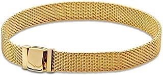 COOLTASTE 2018 Autumn 925 Silver Yellow Gold Reflexions Women Bracelets DIY Fits for Original Pandora Bracelets Charm Fashion Jewelry (18CM)