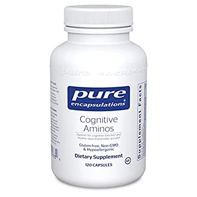 Pure Encapsulations - Cognitive Aminos - Hypoallergenic Supplement for Cognitive Function Support - 120 Capsules