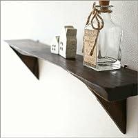 壁掛け 飾り棚 ウォールシェルフ 木製 おしゃれ シンプルな古木のウォール棚 L [tom5515]