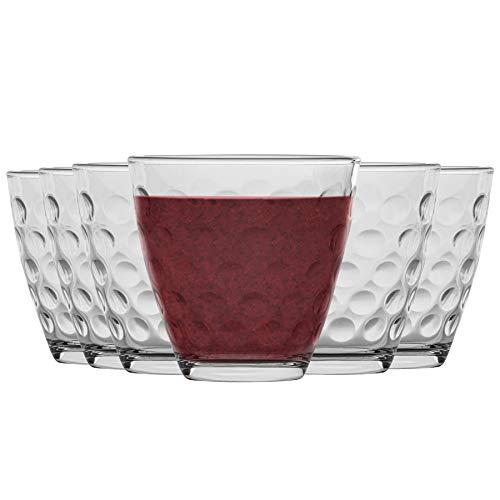 Vasos de bebidas alcohólicas Bormioli Rocco puntos Dimpled Claro Vidrio - 250...