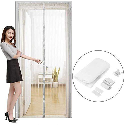 MMWW Home Use Moskitonetz Vorhang Magnete Türgitter Insekten Sandfly Netz mit Magneten auf dem Türgitter Bildschirm Magnete 5 Size-White_90_x_210cm_D