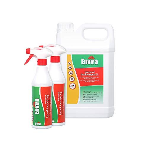 Envira Universal-Insektizid - Hochwirksames Insekten-Spray Mit Langzeitschutz - Auf Wasserbasis - 2 x 500 ml + 5L