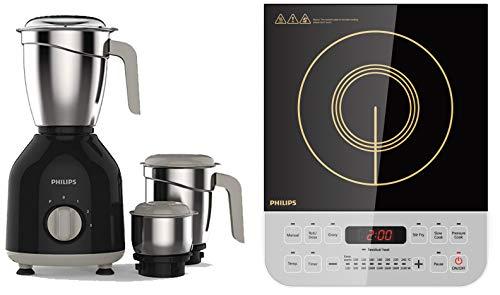 Philips HL7756/00 750-Watt Mixer Grinder + Philips Viva Collection HD4928/01 2100-Watt Induction...