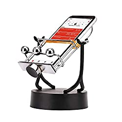 Ideal for those people who don't have the time or energy to get your recommended steps in. The swinging cradle is useful if you are doing some corporate step challenges. The phone shaker simulates steps in Google Fit or Apple Health and it fits any I...