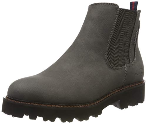 TOM TAILOR Damen 7990803 Stiefeletten, Grau (Coal 00013), 39 EU