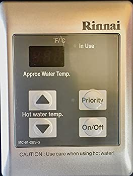 Rinnai MC-91-2S Standard Remote Controller - Residential or Commercial 98-Degree -140-Degree F Silver