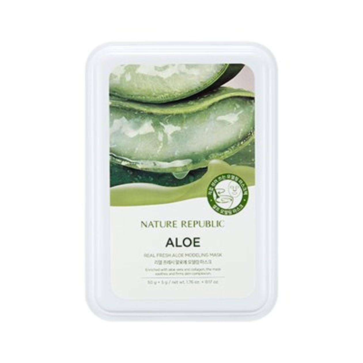 アサーグロー症候群NATURE REPUBLIC Real Fresh Aloe Modeling Mask / ネイチャーリパブリック リアルフレッシュアロエモデリングマスク [並行輸入品]