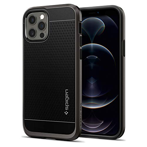 Spigen Cover Neo Hybrid Compatibile con iPhone 12 Compatibile con iPhone 12 PRO - Gunmetal