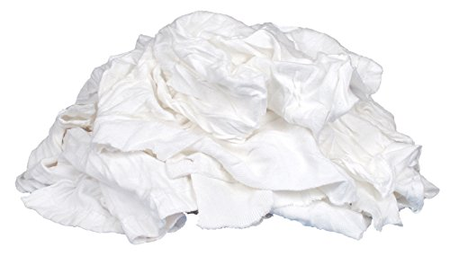 Buffalo Industries (10524 T-Shirt-Stoff, recycelt, 11,3 kg, Weiß