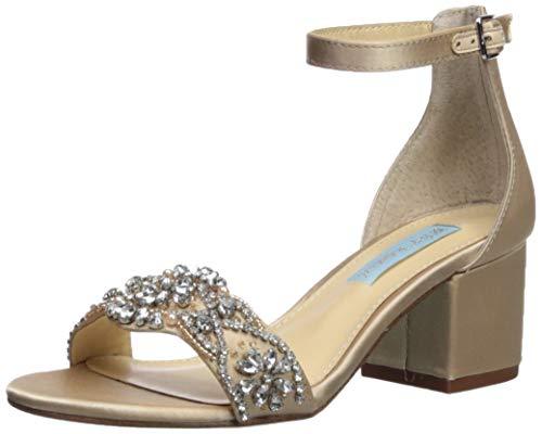 Blue by Betsey Johnson Women's SB-Mel Heeled Sandal, Champagne, 9 W US