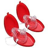 Lezed CPR Beatmungsmaske CPR Maske zur Wiederbelebung Erste Hilfe Atemmaske (2 Stück)