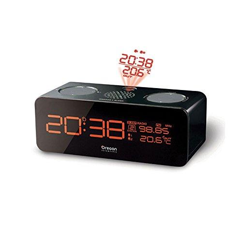 Oregon RRM320P Radio réveil avec projecteur d'horaire Tuner FM Noir - RRM320PN - Oregon Scientific